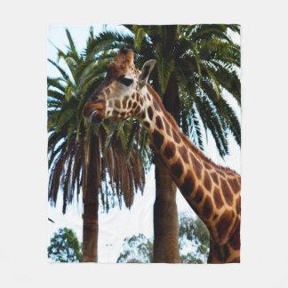 Funny Giraffe Blowing A Raspberry, Medium Fleece Blanket