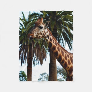 Funny Giraffe Blowing A Raspberry, Small Fleece Blanket