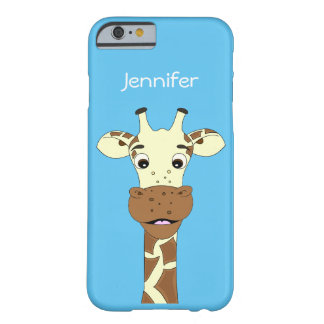Funny giraffe cartoon kids barely there iPhone 6 case