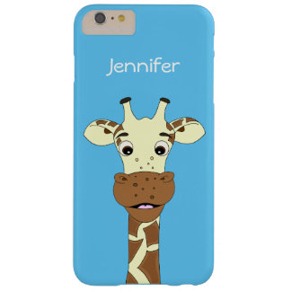 Funny giraffe cartoon name kids barely there iPhone 6 plus case