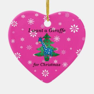 Funny giraffe christmas gifts christmas ornament