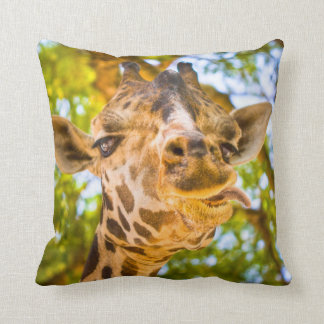 Funny Giraffe Face Cushion