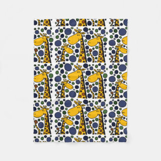 Funny Giraffe Family Abstract Art Fleece Blanket