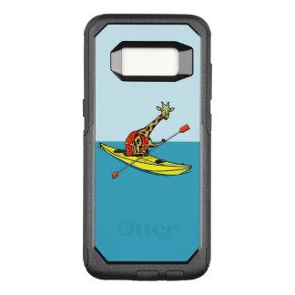 Funny giraffe kayaking OtterBox commuter samsung galaxy s8 case
