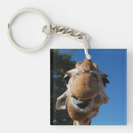Funny giraffe key chain