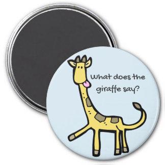 Funny Giraffe Magnet