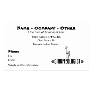 Funny Giraffe Pack Of Standard Business Cards