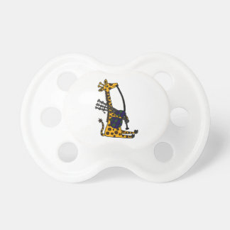 Funny Giraffe Playing Bagpipes Art Baby Pacifiers