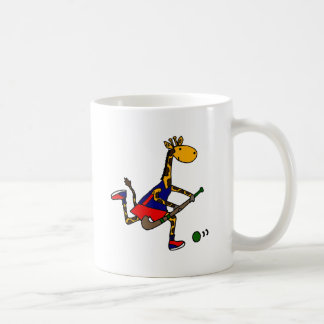 Funny Giraffe Playing Field Hockey Coffee Mug