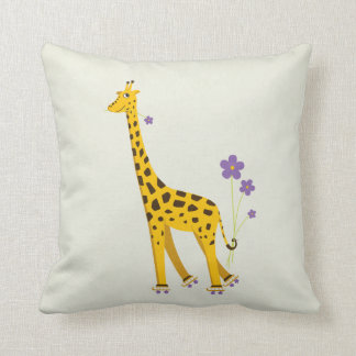 Funny Giraffe Roller Skating Children's Cushion