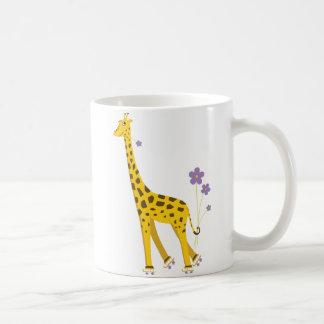 Funny Giraffe Roller Skating Coffee Mug