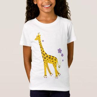 Funny Giraffe Roller Skating T-Shirt