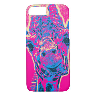 Funny Giraffe Sticking out his Tongue iPhone 8/7 Case