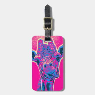 Funny Giraffe Sticking out his Tongue Luggage Tag