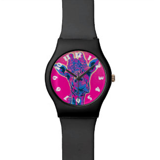 Funny Giraffe Sticking out his Tongue Wrist Watch