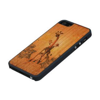 Funny giraffe with cute monkey iPhone 6 plus case