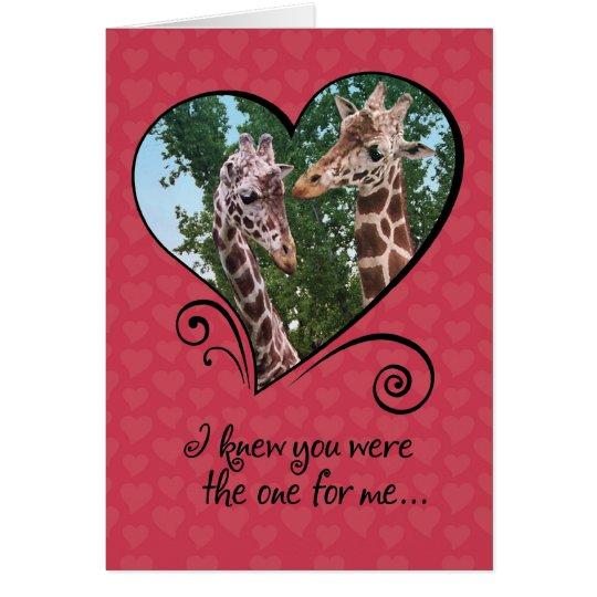 Funny Giraffes Valentines Day Card