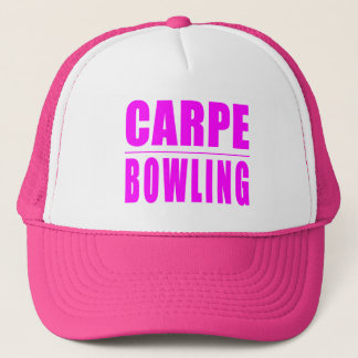 Funny Girl Bowlers Quotes  : Carpe Bowling Trucker Hat