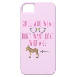 Funny Girl Glasses Nerd Humor iPhone 5 Covers