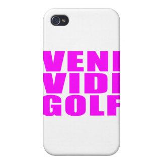 Funny Girl Golfers Quotes  :  Veni Vidi Golf iPhone 4 Case