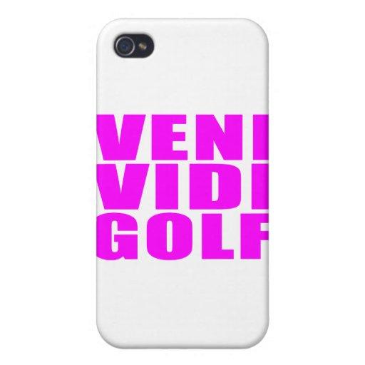 Funny Girl Golfers Quotes  :  Veni Vidi Golf iPhone 4 Cases
