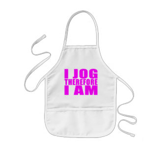 Funny Girl Joggers Quotes  : I Jog Therefore I am Kids' Apron