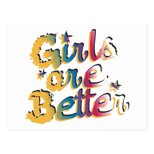 Funny Girls Are Better Kids T-Shirt Postcard