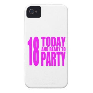 Funny Girls Birthdays  18 Today and Ready to Party iPhone 4 Case-Mate Case