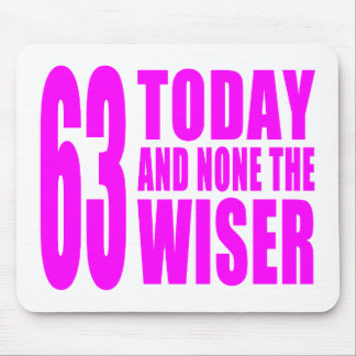 Funny Girls Birthdays  63 Today and None the Wiser Mouse Pad