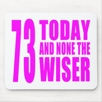 Funny Girls Birthdays  73 Today and None the Wiser Mouse Pad