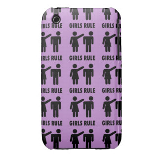 Funny Girls Rule Purple Girl Power Feminist Gifts iPhone 3 Case-Mate Cases