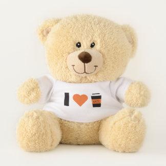 Funny. Girly. I Love Coffee. Teddy Bear
