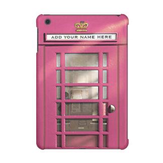 Funny Girly Pink British Phone Box Personalized
