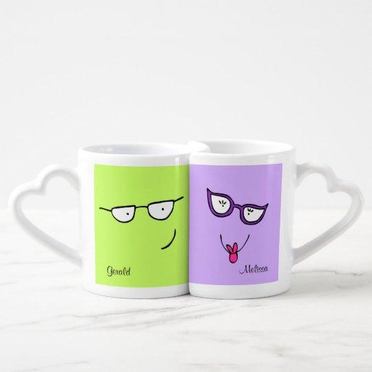 Funny Glasses Couples Mug