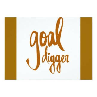 FUNNY GOAL DIGGER PLAY ON WORDS ATTITUDE MOTIVATIO CARD
