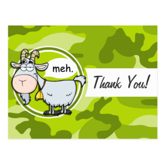 Funny Goat bright green camo camouflage Post Cards