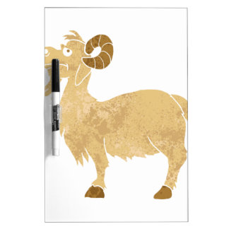funny Goat cartoon. Dry Erase Board