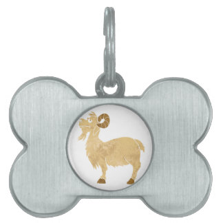 funny Goat cartoon. Pet Name Tag