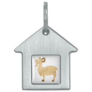 funny Goat cartoon. Pet Tags