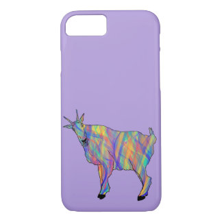 Funny Goat Colourful Animal Art Purple Design iPhone 8/7 Case