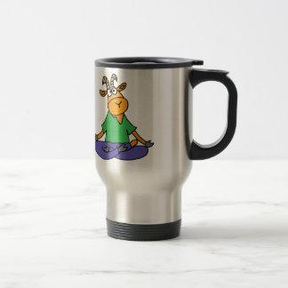 Funny Goat Doing Lotus Position Yoga Travel Mug
