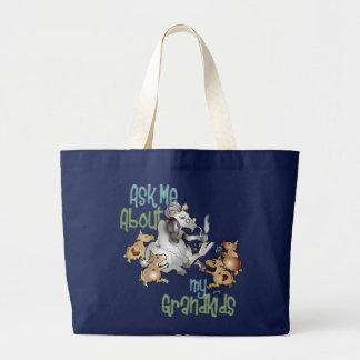 Funny Goat GrandPa GrandKids Canvas Bag