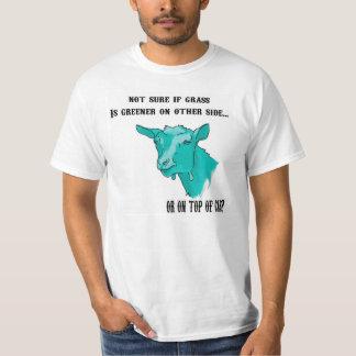 Funny Goat Grass is Greener (Cyan) T-Shirt