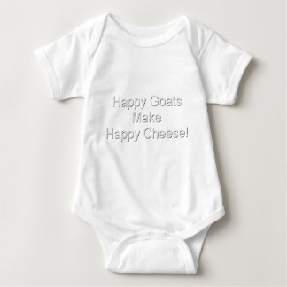 Funny Goat Happy Cheese Baby Bodysuit