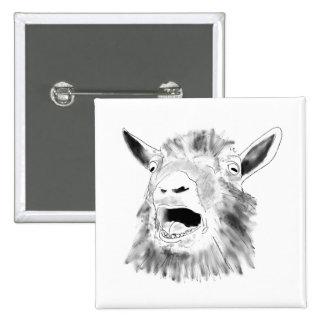 Funny goat novelty art badge