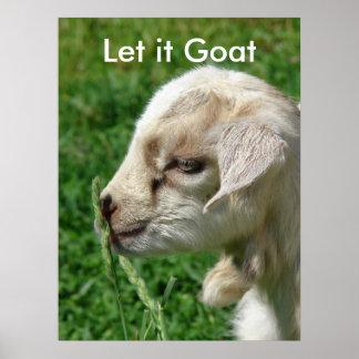 Funny Goat Parody, Cute Goat Kid Poster