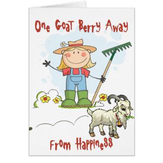 Funny Goat Poop Cartoon Greeting Card