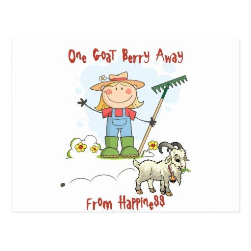 Funny Goat Poop Cartoon Post Cards