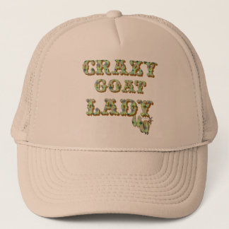 Funny Goat Shirt Crazy Goat Lady 3 Trucker Hat