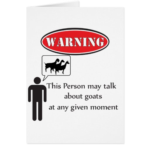 Funny Goat Warning Cards